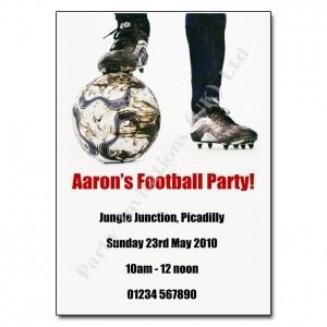 Football Party Invitation | Children's Party Invites