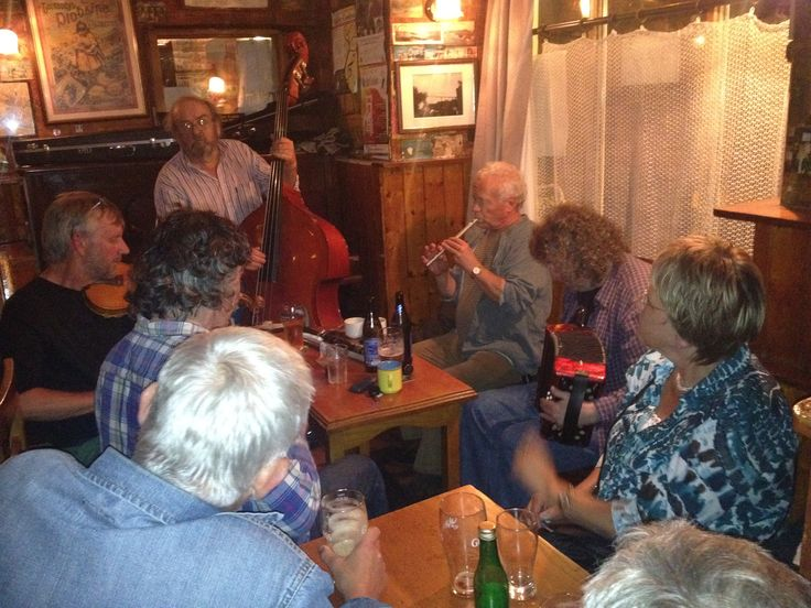 Traditional session, daily in The Roadside Inn, Lisdoonvarna, Co. Clare