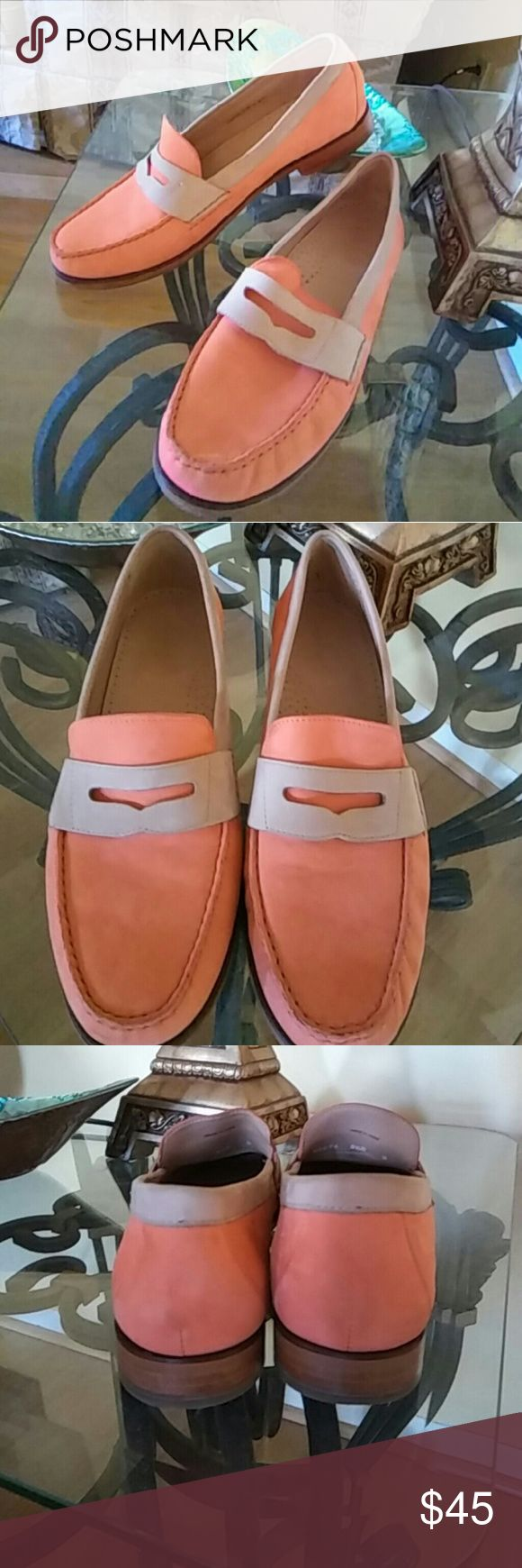 Cole Haan Nubuck Leather Loafers Natural leather. Superb condition.  Virtually like new. Cole Haan Shoes Flats & Loafers