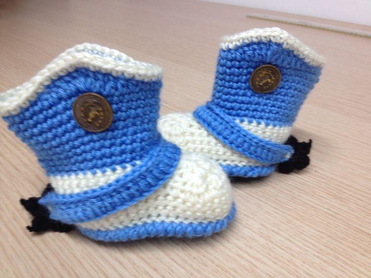 Stivali da cowboy neonato Scegli i tuoi colori e formato - realizzati su ordinazione di CreationPatchworkEwa su Etsy