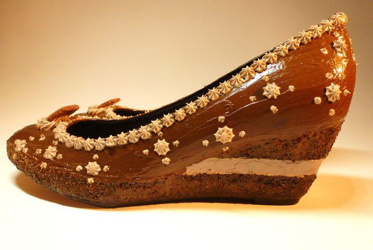 Schuhe - Schokoladentorte mit Keks, veredelte Wedges - ein Designerstück von SchuhSchuh_Tienda bei DaWanda