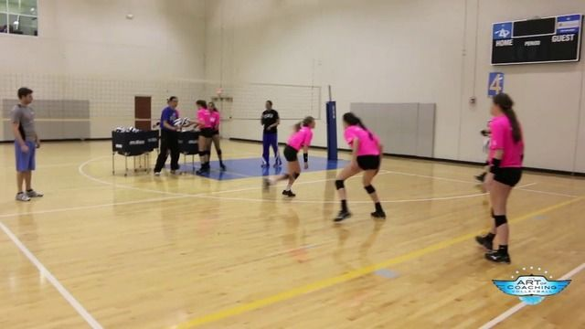 Volleyball Pursuit Drill The Art Of Coaching Volleyball Coaching Volleyball Volleyball Drills Volleyball Training