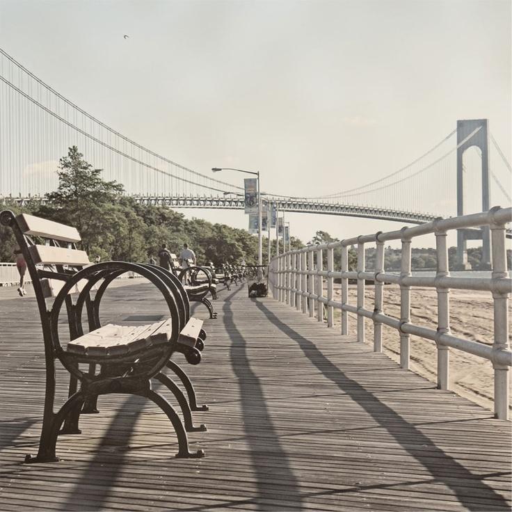 South Beach Boardwalk, Staten Island, NY.