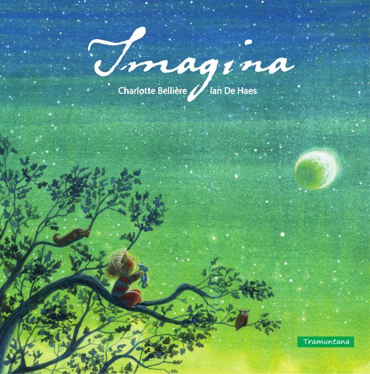 Imagina  para que los niños usen su imaginación, un día el peluche de la niña no quiere jugar con ella y los dos emprenden un viaje