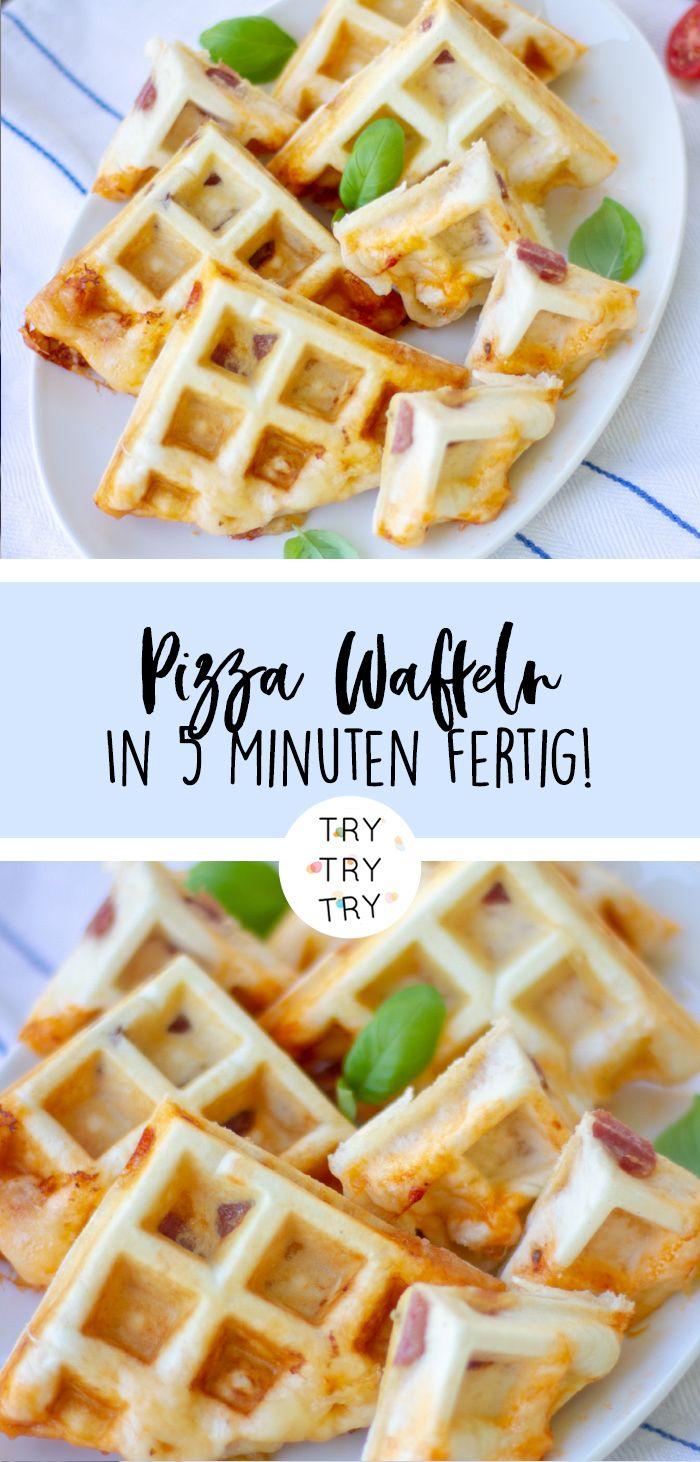 Herzhafte Pizza Waffeln! In 5 Minuten zum schnellen Snack! Mit diesem Rezept gan… – Andrea Wiedemann