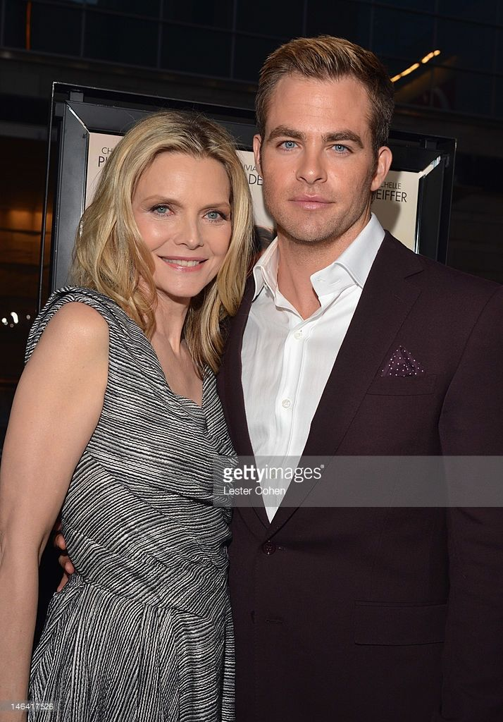 Actors Michelle Pfeiffer and Chris Pine attend the 2012 Los Angeles Film Festival Premiere of 'People Like Us' at Regal Cinemas L.A. LIVE Stadium 14 on June 15, 2012 in Los Angeles, California.