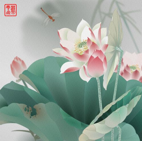 Chinese painting style in Adobe Fireworks