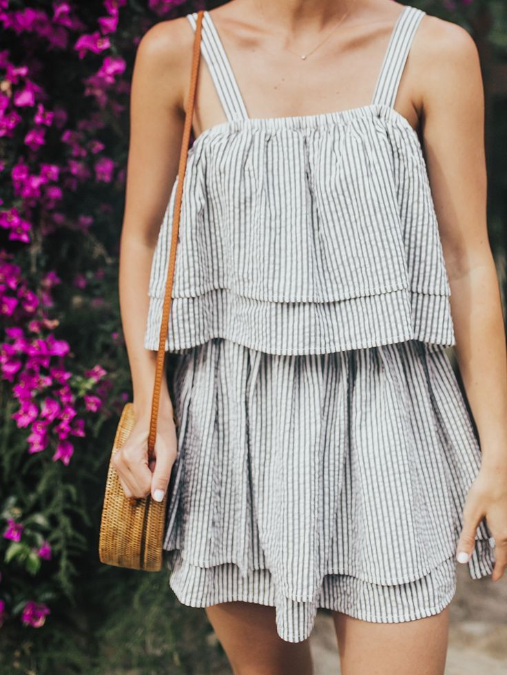 Seersucker Mini Dress   LivvyLand