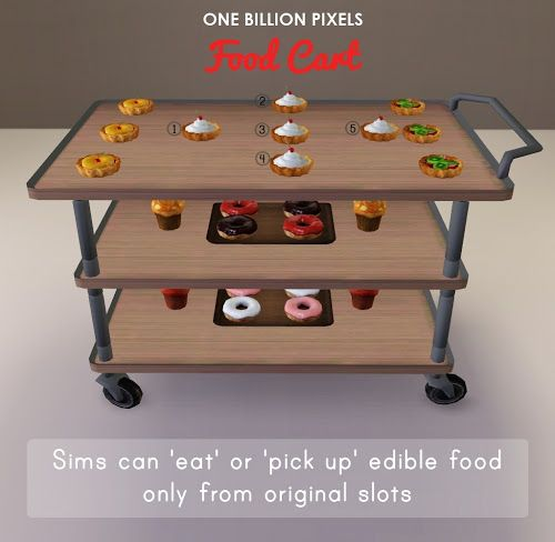Party Add Ons (Table & Food Cart) - One Billion Pixels