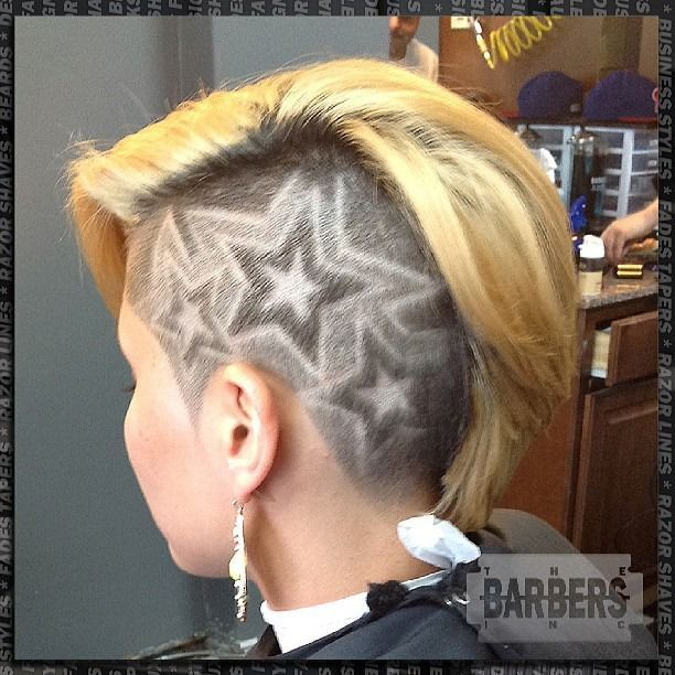 Hair+Tattoos+…+,+nicht+für+die+schüchterne+Frau!+Auffallende+Kurzhaarfrisuren+mit+scharfen+Tattoos!