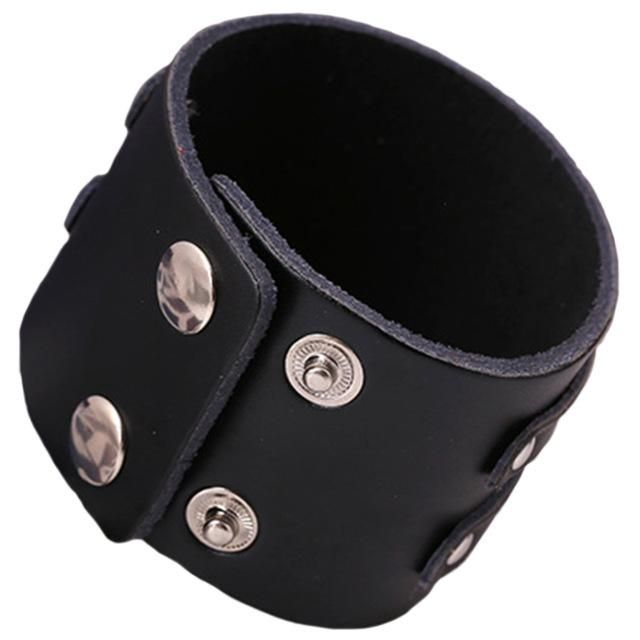 Buckles Leather Wristband