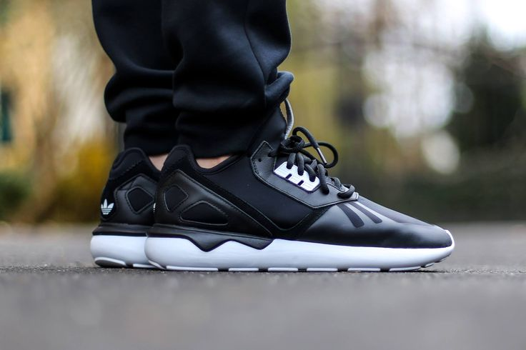 Adidas Tubular Black On Feet