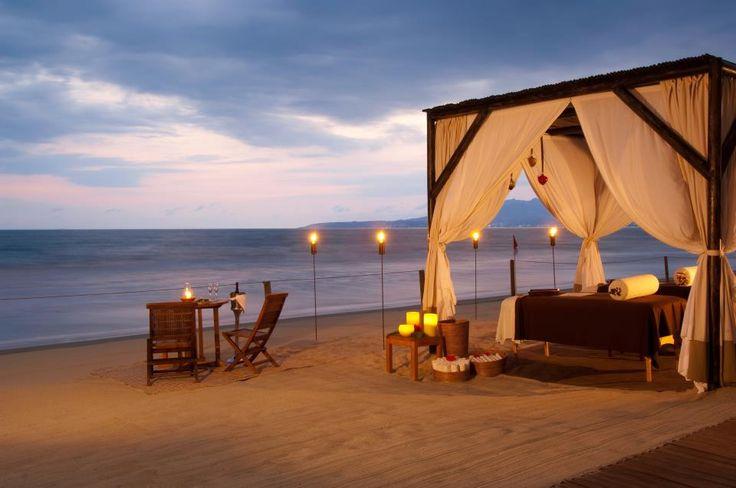 Beach cabana massage