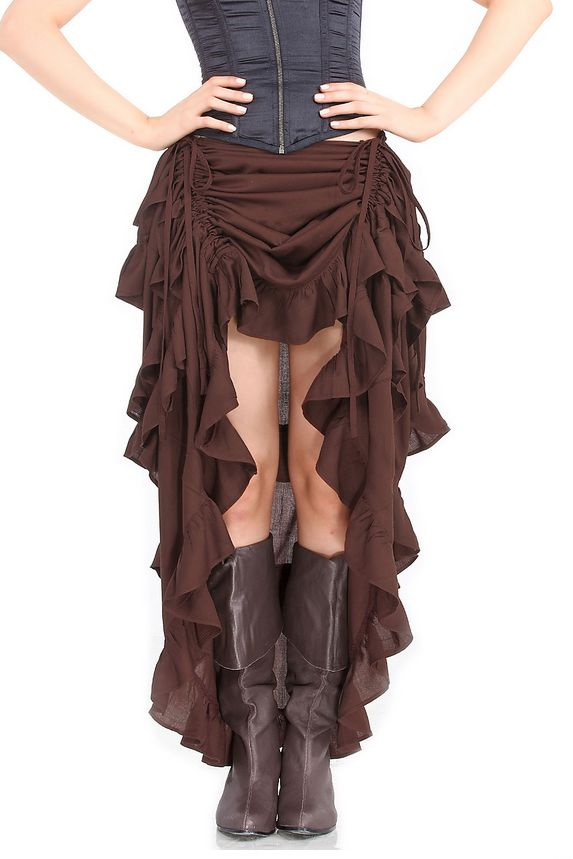 Steampunk brown skirt
