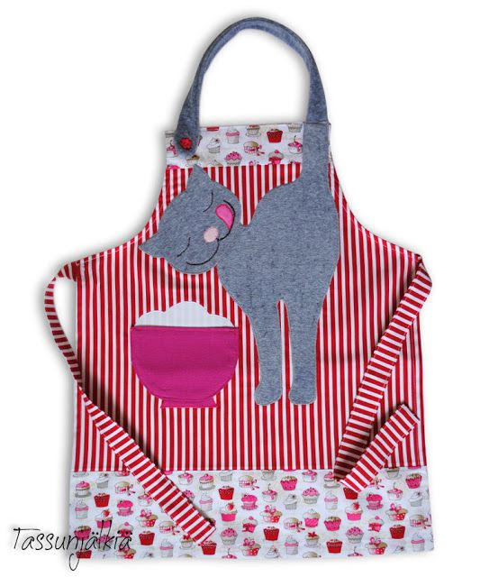 cat apron - no instructions, just the picture