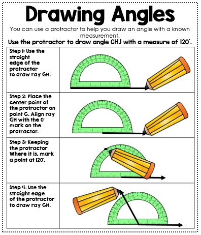 Drawing Angles Anchor Chart - Interactive Math Journal