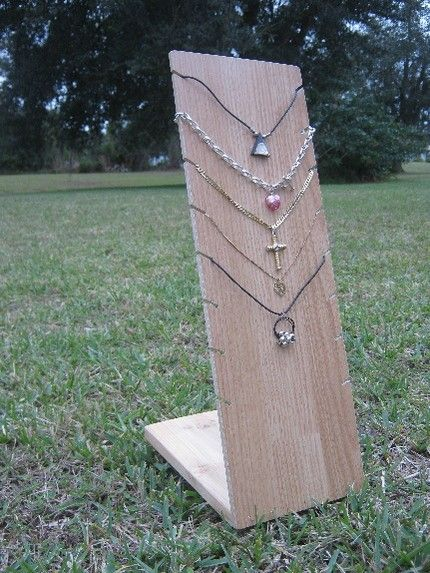 Necklace holder: simple Jewelry display ideas