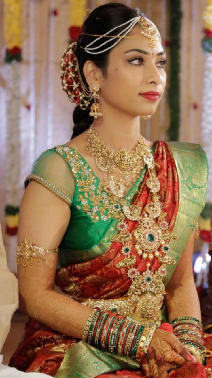 Suhasini in gundla haram jewellery designs - Blouse Models Blouse Patterns Indian Beauty