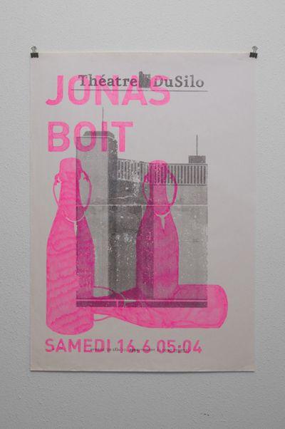 Poster for Theatre du Silo, by Didier Quarroz. 2008 -- http://www.didierquarroz.ch/Material/Sites/theatre.html