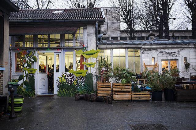 Les Grands Voisins - a social project in an abandoned hospital with second hand shop and restaurant - 82 Avenue Denfert-Rochereau - 75014 Paris