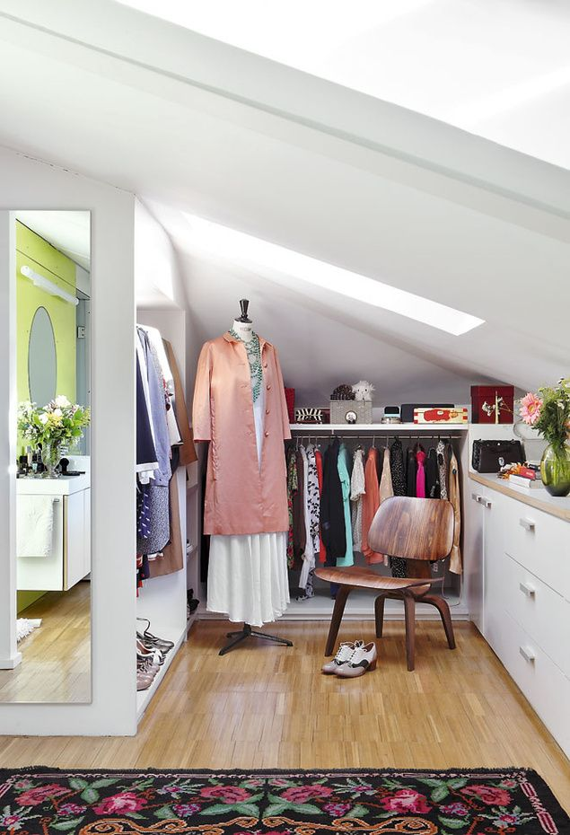 short eave open closet