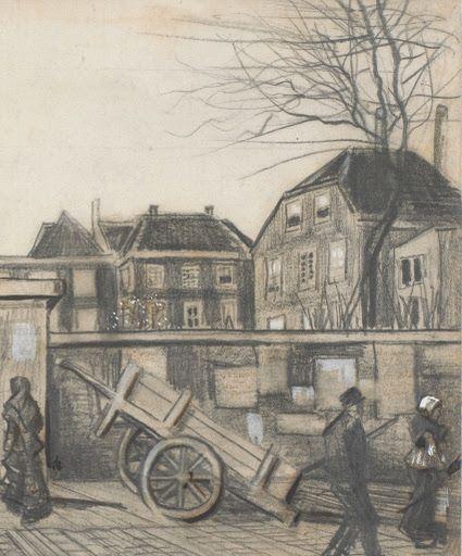 De ingang van de Bank van Lening, Den Haag - Van Gogh Museum