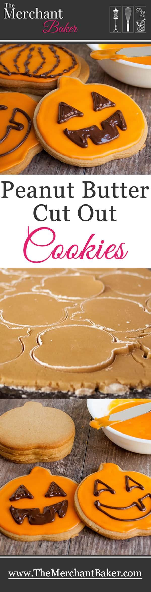 """Making these Peanut Butter Cut Out Cookiesis aHalloweentradition from my childhood.The recipe was clipped(about a million years ago)from a Cleveland newspaper, The Plain Dealer. I remember the recipe was called, """"Peanutty Pumpkin Cookies,"""" and employed the use"""