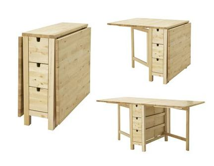 Cream Gateleg Table - perfect for a kitchen eating area...it collapses too!