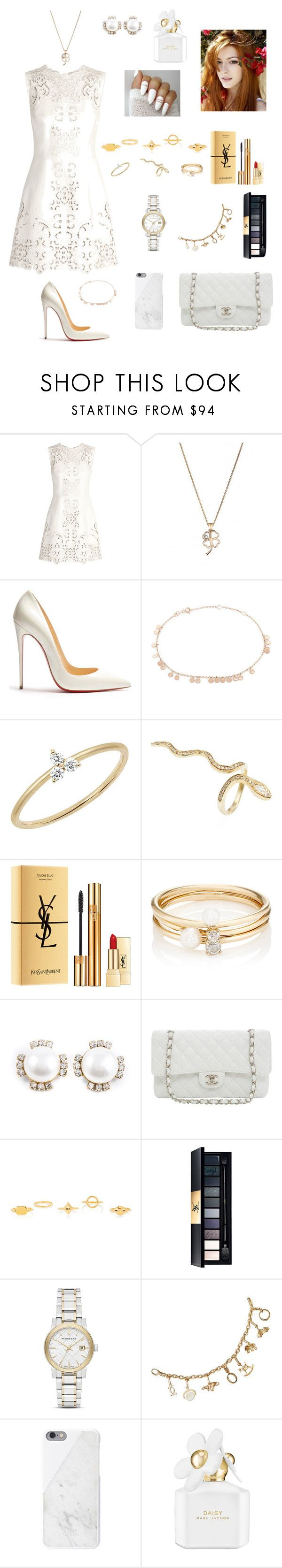 """White"" by tamara-wolfram ❤ liked on Polyvore featuring Dolce&Gabbana, Christian Louboutin, Kismet by Milka, EF Collection, Jacquie Aiche, Yves Saint Laurent, Loren Stewart, Chanel, Karl Lagerfeld and Chloé"