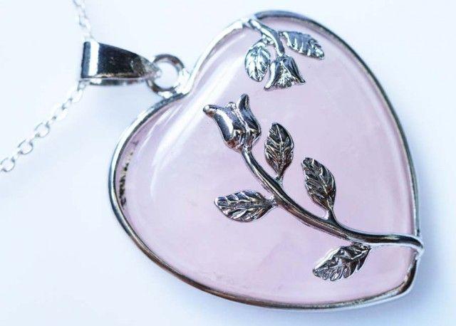 Heart shape Rose Quartz Pendant BU12230a heart shape gemstone pendant, pendant rose quartz