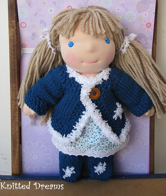 Waldorf doll  Winter Clothes set of two  Hand Knitted  by tatocka, $32.00