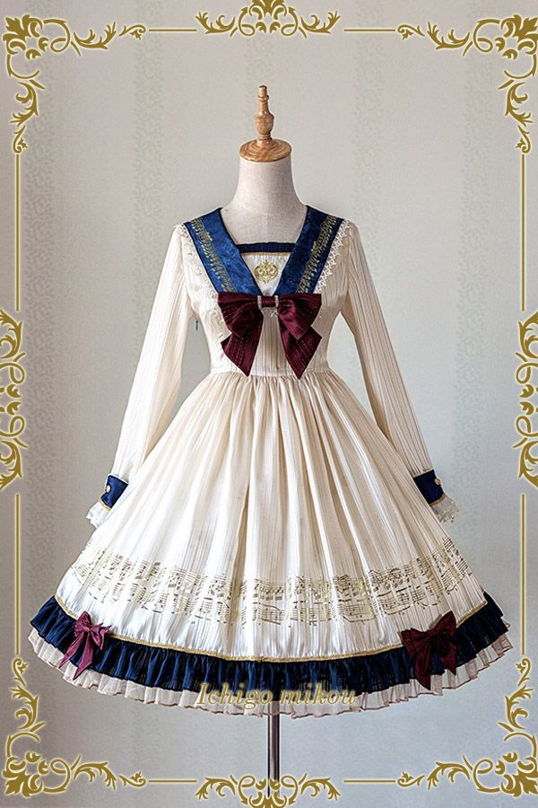 IchigoMiko -Ballad By The River Seine- Sailor Style Lolita OP Dress