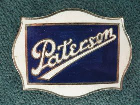 PATERSON radiator emblem   The PATERSON was a buggy maker before entering the automobile production in 1909.   In their first year they so...
