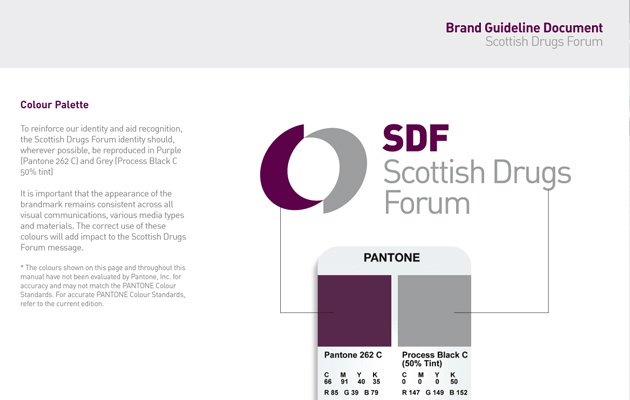 Rebrand for Scottish Drugs Forum - national resource of expertise on drug issues