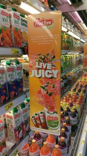 F&N Fruit Tree Live Juicy Chiller Shelf Banner