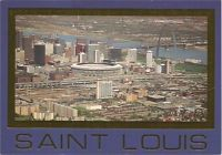 Vintage MLB NFL St. Louis Cardinals Busch Baseball Football Stadium Postcard