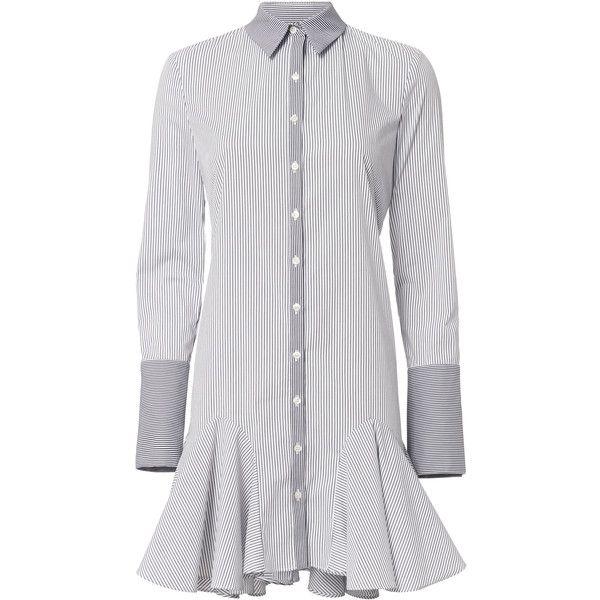 Mini shirt dress white bloom.