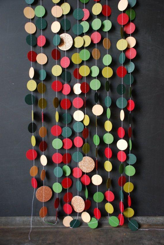 #DIY #Paper & Thread #Garland http://www.kidsdinge.com https://www.facebook.com/pages/kidsdingecom-Origineel-speelgoed-hebbedingen-voor-hippe-kids/160122710686387?sk=wall http://instagram.com/kidsdinge