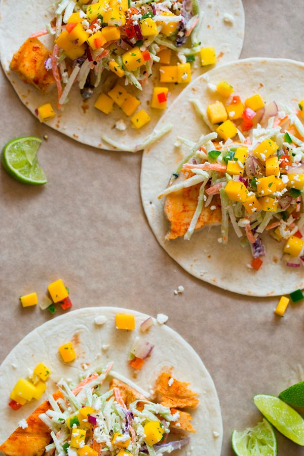 Achiote Grilled Fish Tacos / Spoon Fork Bacon {omg yum}: Fish Taco Recipes, Achiot Fish, Spoons Forks Bacon, Tacos Recipes, Grilled Fish Tacos, Fishtaco, Achiot Grilled, Yum, Mango Salsa