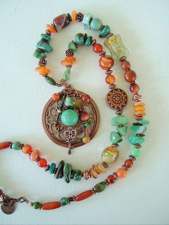 Boho Necklace Southwest Necklace Bohemian Style by BohoStyleMe