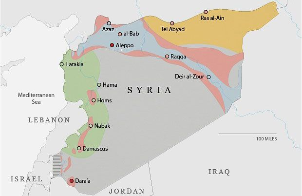 Syria conflict anniversary: who controls what - Telegraph