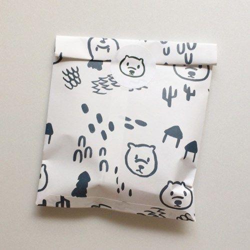 [달의공간] 곰돌이(クマ) 봉투 + 원형스티커 set