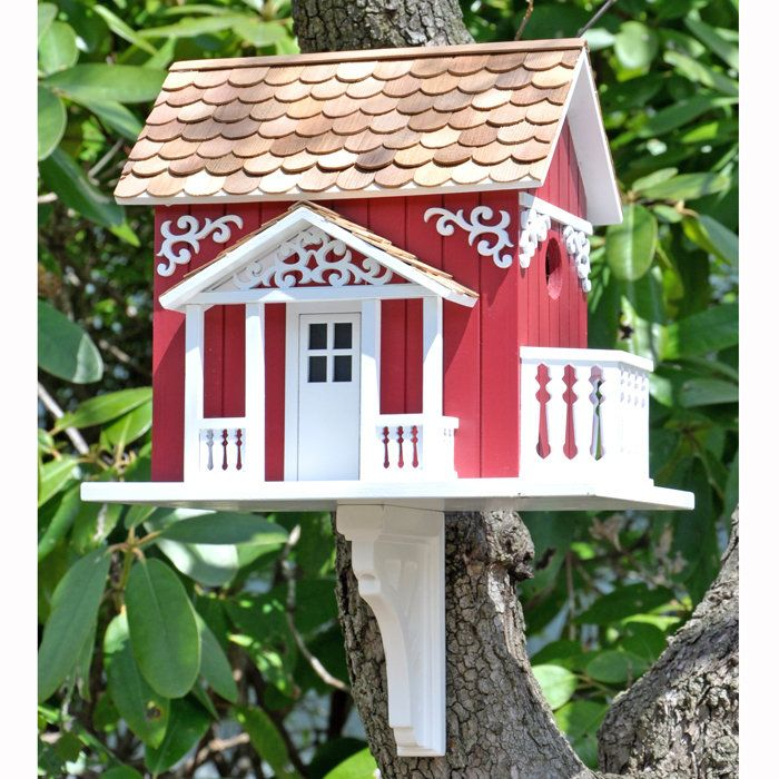 Swedish Cottage Birdhouse. Birdhouse? Sweden? I think this was made for me!