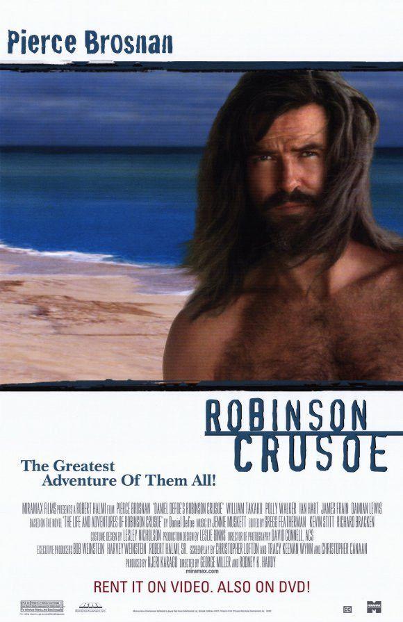 Robinson Crusoe Movie Poster 27x40 Used Ian Hart, Martin Grace, Lysette Anthony, Ben Robertson, Pierce Brosnan, Polly Walker, Tim McMullan, Damian Lewis, James Frain, Jim Clark