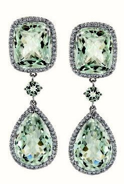 http://rubies.work/1022-multi-gemstone-ring/ Christian Dior Green Sapphire Ear Pendants