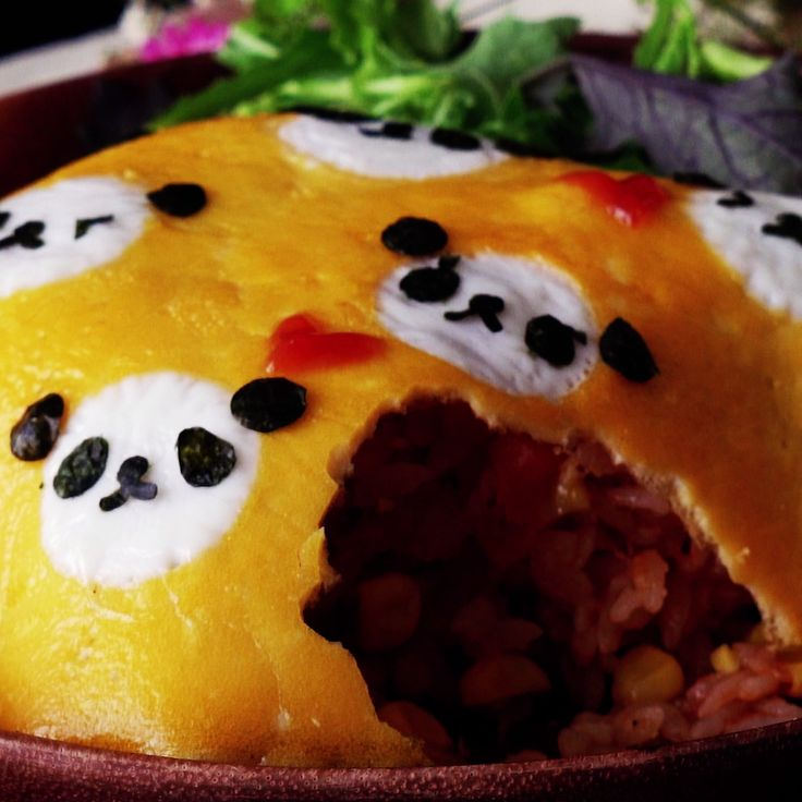 This omurice is unbearably adorable and delicious.