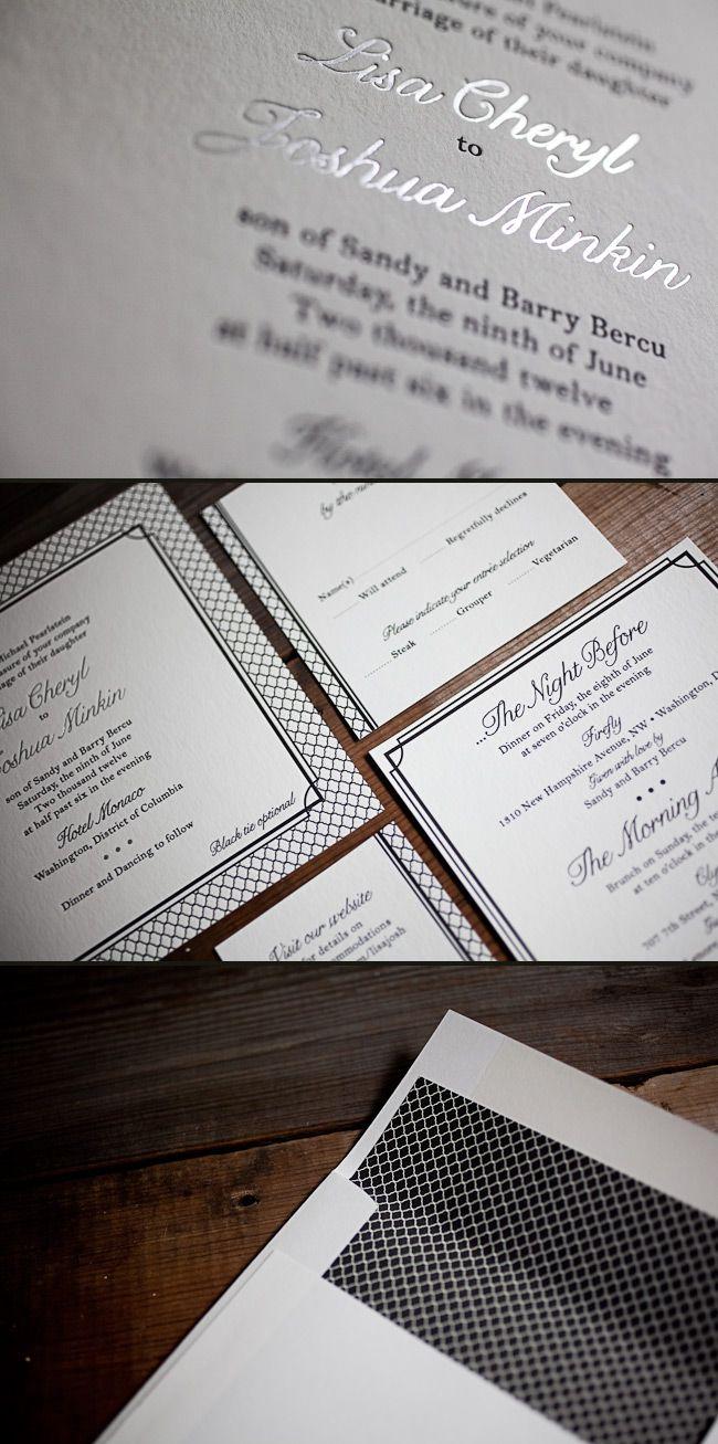 smock custom foil letterpress wedding invitations 7