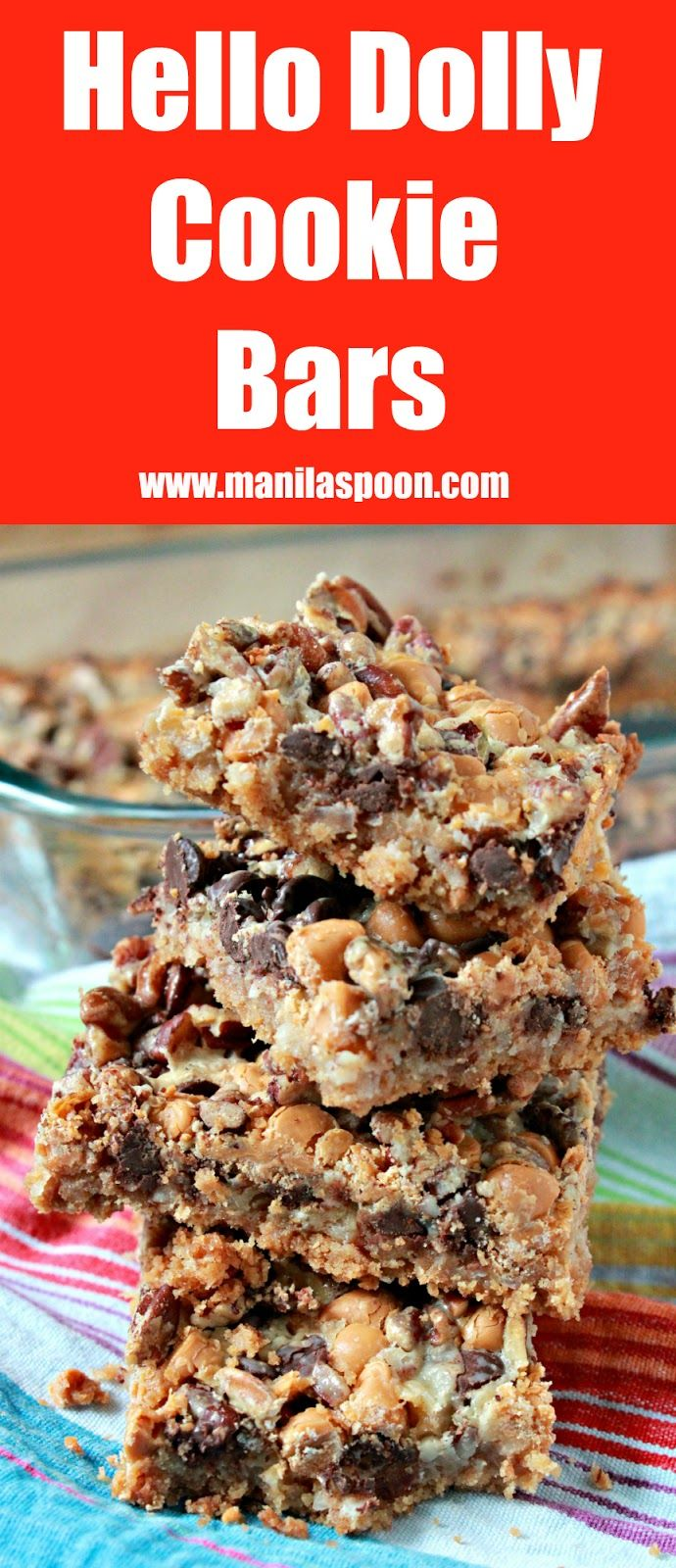 These cookie bars are truly so delicious and super easy to make!! With layers of graham crackers, coconut, pecans, butterscotch and choco chips - your tastebuds are in for a yummy treat!