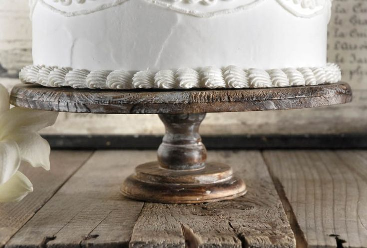 Rustic Wood Cake Stand | 4 x 12in