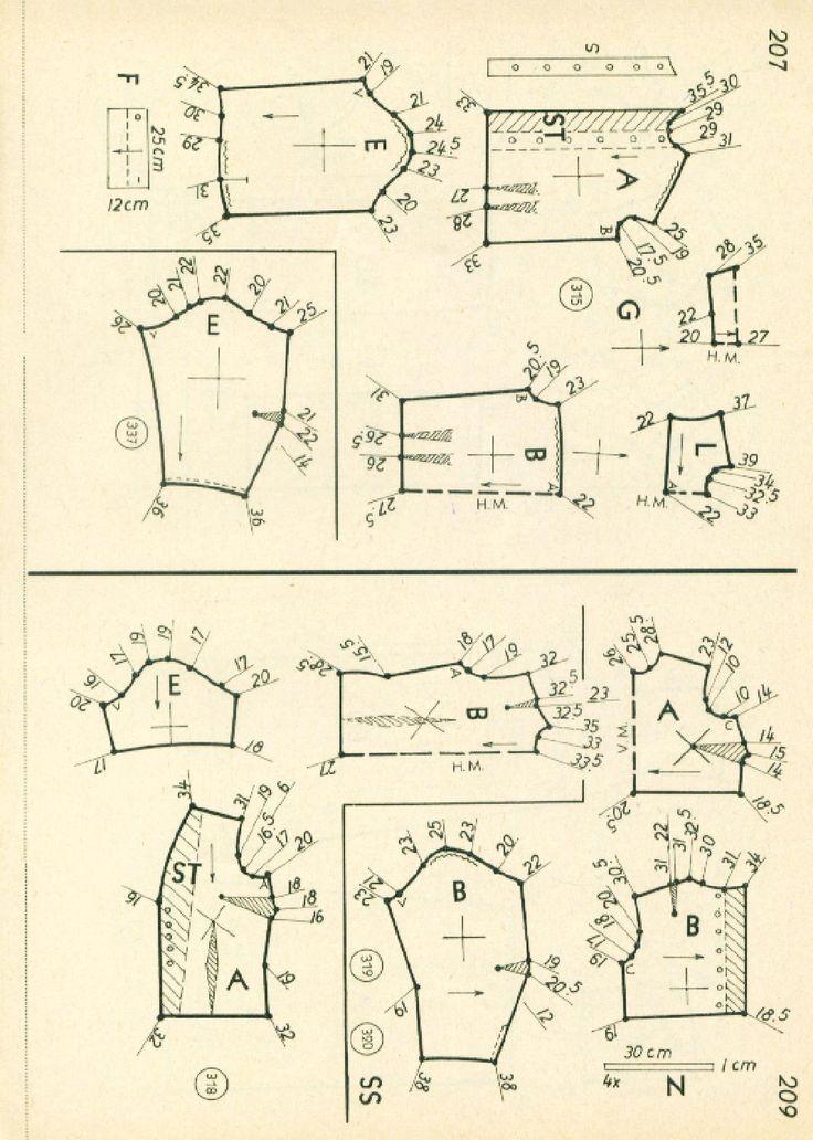 31 mejores imágenes de винтаж1962 en Pinterest | Patrones de costura ...